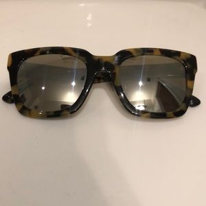 MVMT 'Stranger' Tortoise Mirrored Sunglasses